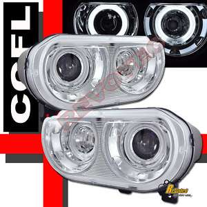 DODGE CHALLENGER SRT8 DUAL CCFL HALO PROJECTOR HEADLIGHTS FOR FACTORY