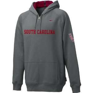 Nike South Carolina Gamecocks Slate Heather Basketball Practice Hoody