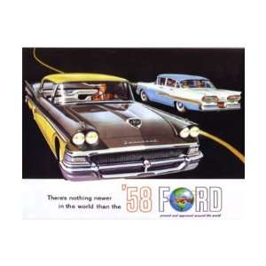 1958 FORD Sales Brochure Literature Book Piece