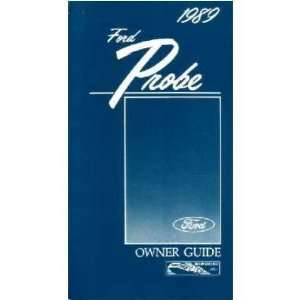 1989 FORD PROBE Owners Manual User Guide