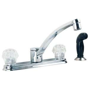 Centerset Touch Control Bar Kitchen Faucet with Black Side Spray