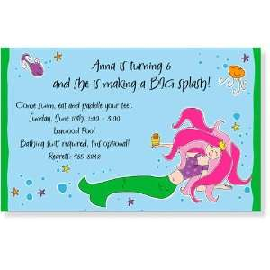 Childrens Birthday Party Invitations   Under the Sea