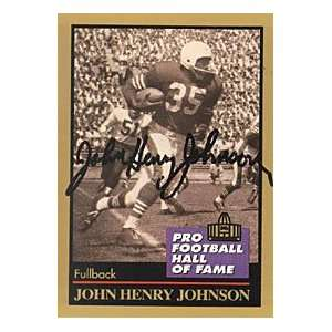 John Henry Johnson Autographed 1991 Football Hall of Fame