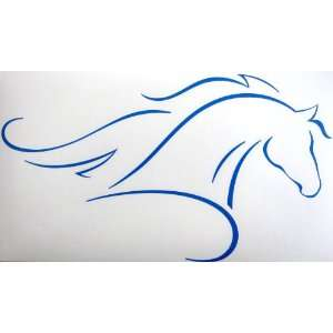 Art Arabian or Morgan with Flowing Mane Horse Vinyl Car Decal Sticker