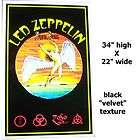 LED ZEPPELIN SWAN SONG FUZZY BLACK
