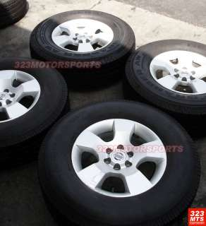 16 USED OEM NISSAN TRUCK 6LUG WHEELS & UNIROYAL TIRES
