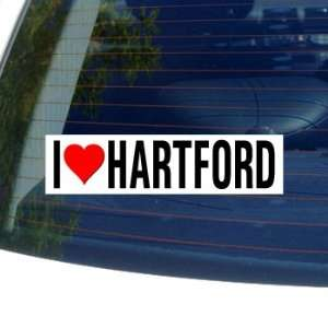 I Love Heart HARTFORD   Connecticut Window Bumper Sticker