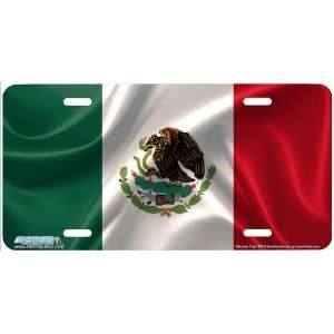 294 Mexican Flag Flag License Plates Car Auto Novelty Front Tag by
