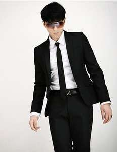 Men Stylish Slim Fit One Button Dress Suit+Pant/Set