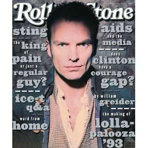 Sting, 1993 Rolling Stone Cover Poster by Andrew MacPherson (9.00 x 11