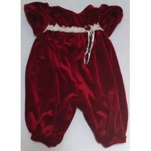 Baby Girl Red 0 3 Months, Romper Dress, Winter Christmas