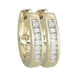 14K Yellow Gold Diamond Earrings (I2 I3 clarity, G I color) Jewelry