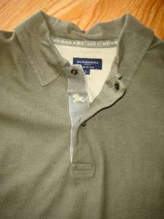Mens size large olive green Burberry Golf polo shirt It is in