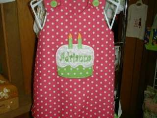 Custom Monogram Birthday Cake Set 6mo   6X REVERSIBLE