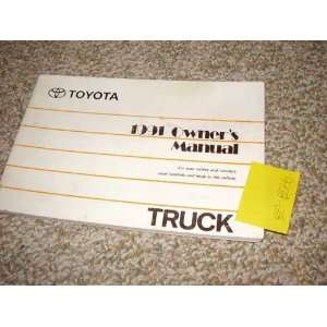 1991 Toyota Truck Owners Manual Toyota Books