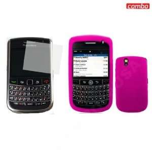 BlackBerry Tour 2 9650 Combo Solid Hot Pink Silicon Skin