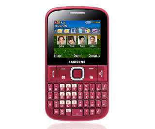 New Samsung Ch@t E2220 Chat 222 Unlocked GSM Cell Phone QWERTY