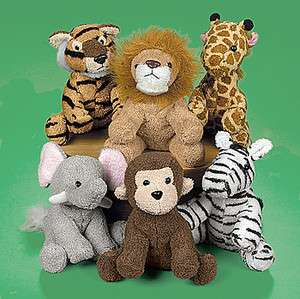 Jungle Plush Stuffed Animals ZEBRA MONKEY ELEPHANT TIGER GIRAFFE