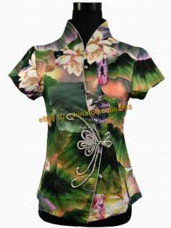 New Chinese Women Girl Flowery Casual Shirt Blouse Tops