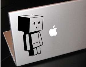 DANBO LOOKING DOWN BOX ROBOT MACBOOK CAR TABLET VINYL DECAL