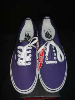 Vans Authentic Parachute Purple Low Top Canvas New in Box sizes 10