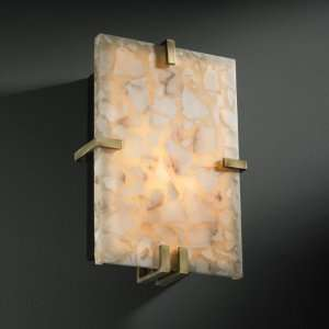 Design ALR 5551 ABRS, Alabaster Rocks Clips Glass Wall Sconce Lighting
