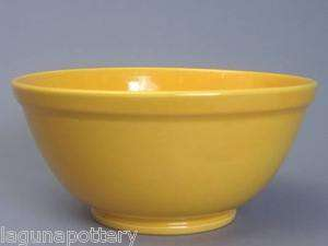 Vintage Bauer Pottery USA Plainware #3 Huge Yellow Mixing Bowl