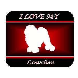 I Love My Lowchen Dog Mouse Pad   Red Design