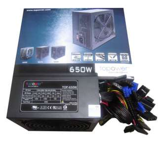 Topower 650W 650 watt 12V 14cm Fan ATX Power Supply New