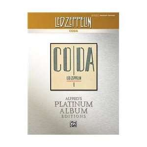 Alfred Led Zeppelin   Coda Drums Platinum Edition Book