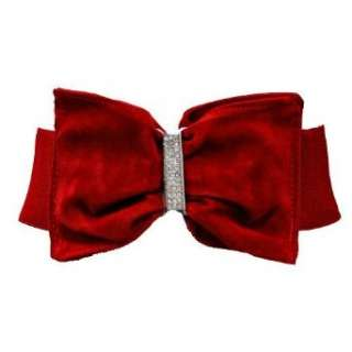 Red Velvet Bow Elastic Stretch Cinch Belt Clothing