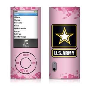 Army Pink Design Decal Sticker for Apple iPod Nano 5G (5th