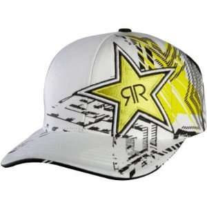 Fox Racing Rockstar Showcase Flexfit Hat   Large/X Large