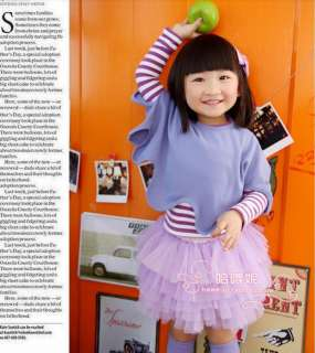 Colors hot Korea children joker candy yarn cake skirt 01