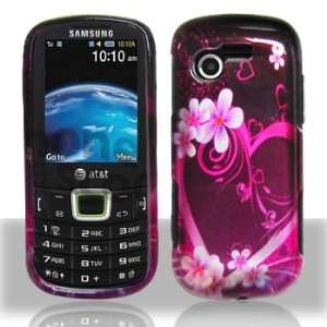 Samsung Evergreen A667 Purple Love Hard Case Snap on Cover