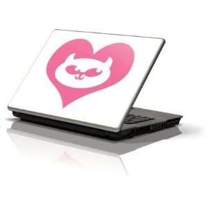 Hot Pink SCK Heart skin for Generic 12in Laptop (10.6in X