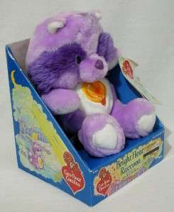 VTG CARE BEARS BRIGHT HEART RACCOON 13 MIB PLUSH 1983