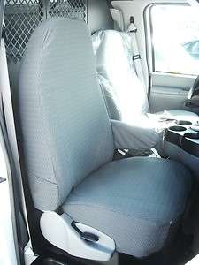 1993 2007 Ford E Series Van Front Row Exact Seat Covers in Gray Twill