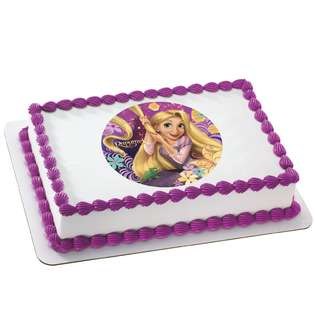 Deco Pac Tangled   Rapunzel Edible Icing Cake Topper