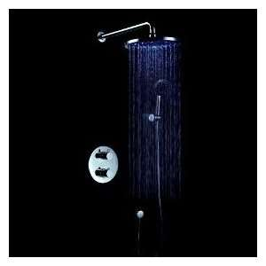 Faucetland 004001669 8 LED Showerhead Thermostatic Wall Mount Shower