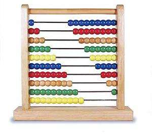 MELISSA & DOUG WOODEN ABACUS INCLUDES 100 WOODEN BEADS 493 NISB