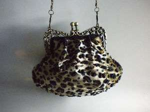 New Brown Leopard Print Clutch Purse Prom Handbag