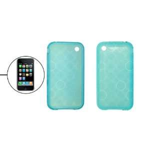 Clear Baby Blue Circle Paterned Soft Plastic Skin Case