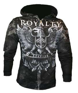 & ROLL ROYALTY BATTLE ARMOR HOODIE HOOD SWEATSHIRT MMA MENS