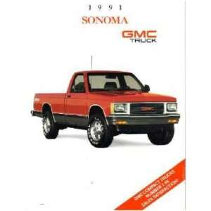 1991 GMC SONOMA Sales Brochure Literature Book Piece