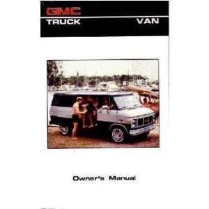 1986 GMC G VAN Owners Manual User Guide Automotive