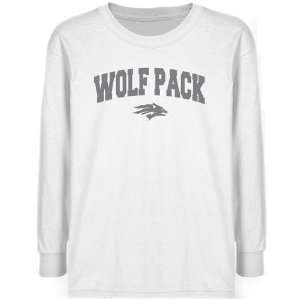 Nevada Wolf Pack Youth White Logo Arch T shirt  Sports