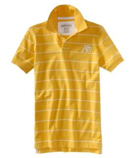 aeropostale mens striped a87 jersey polo shirt