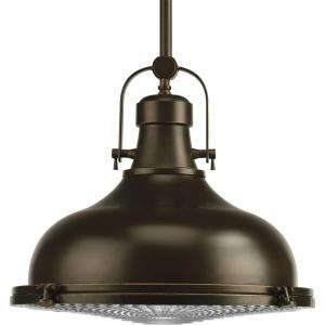 Progress Lighting Fresnel Collection Oil Rubbed Bronze 1 light Pendant