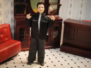 Dollhouse Minatures ~ 1950s Fonzie Type Man Doll